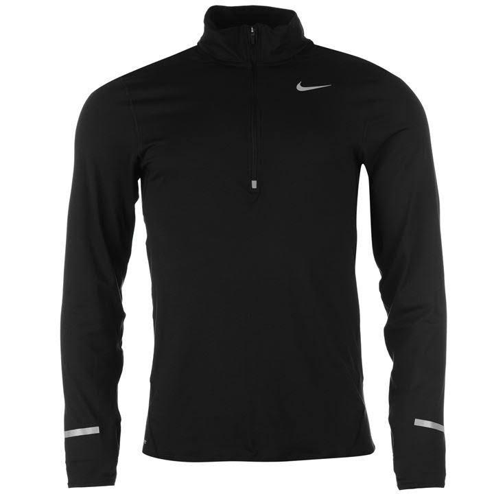 Para Xxl Con Element 2xl Half Nike Fit Hombre Larga Zip Dri De Tamaño Manga Camiseta Negro 1FxZv0
