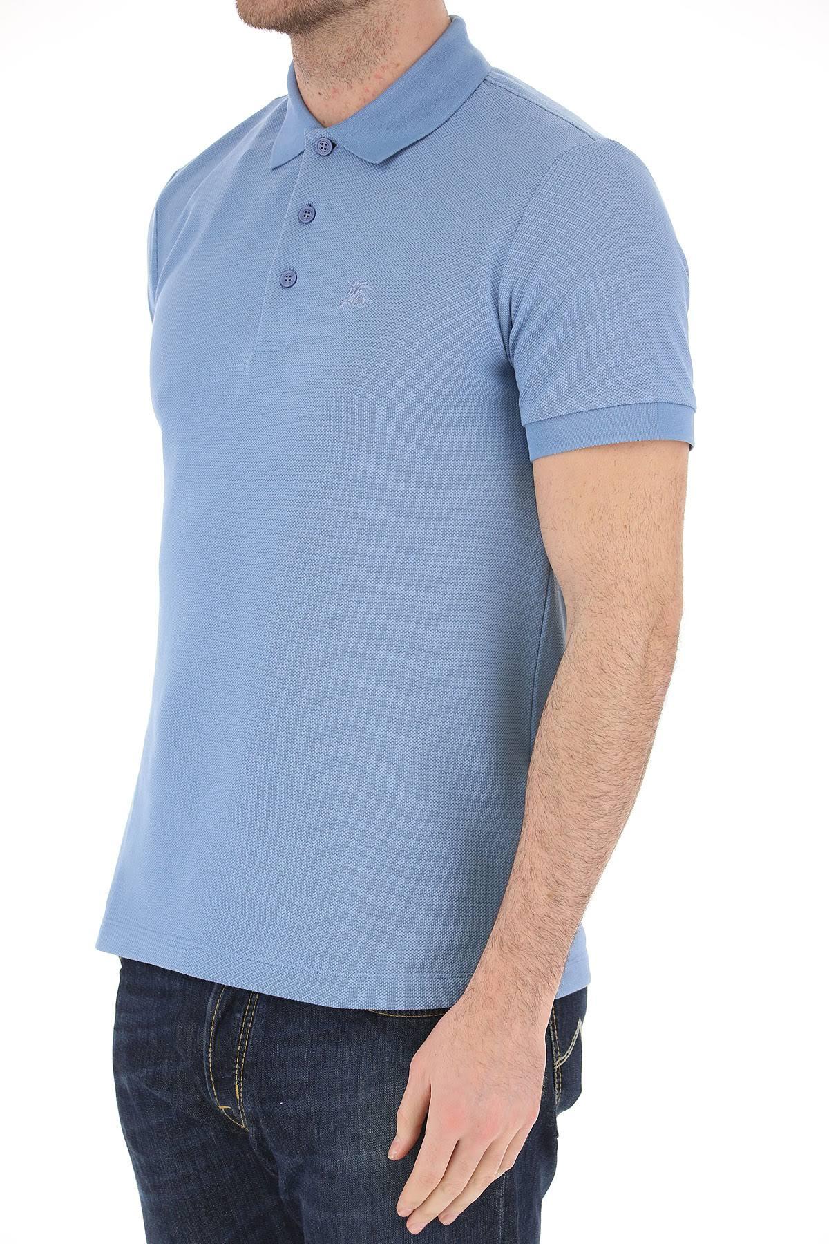 Burberry Polo Claro Pálido Azul Hombre M L 2019 S Algodón Para Xl 7aq6rfw7
