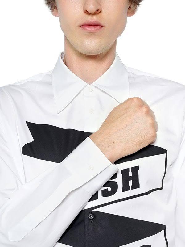 Aus Weißes Man Hemd Baumwolle Dsquared2 6wTqtCC