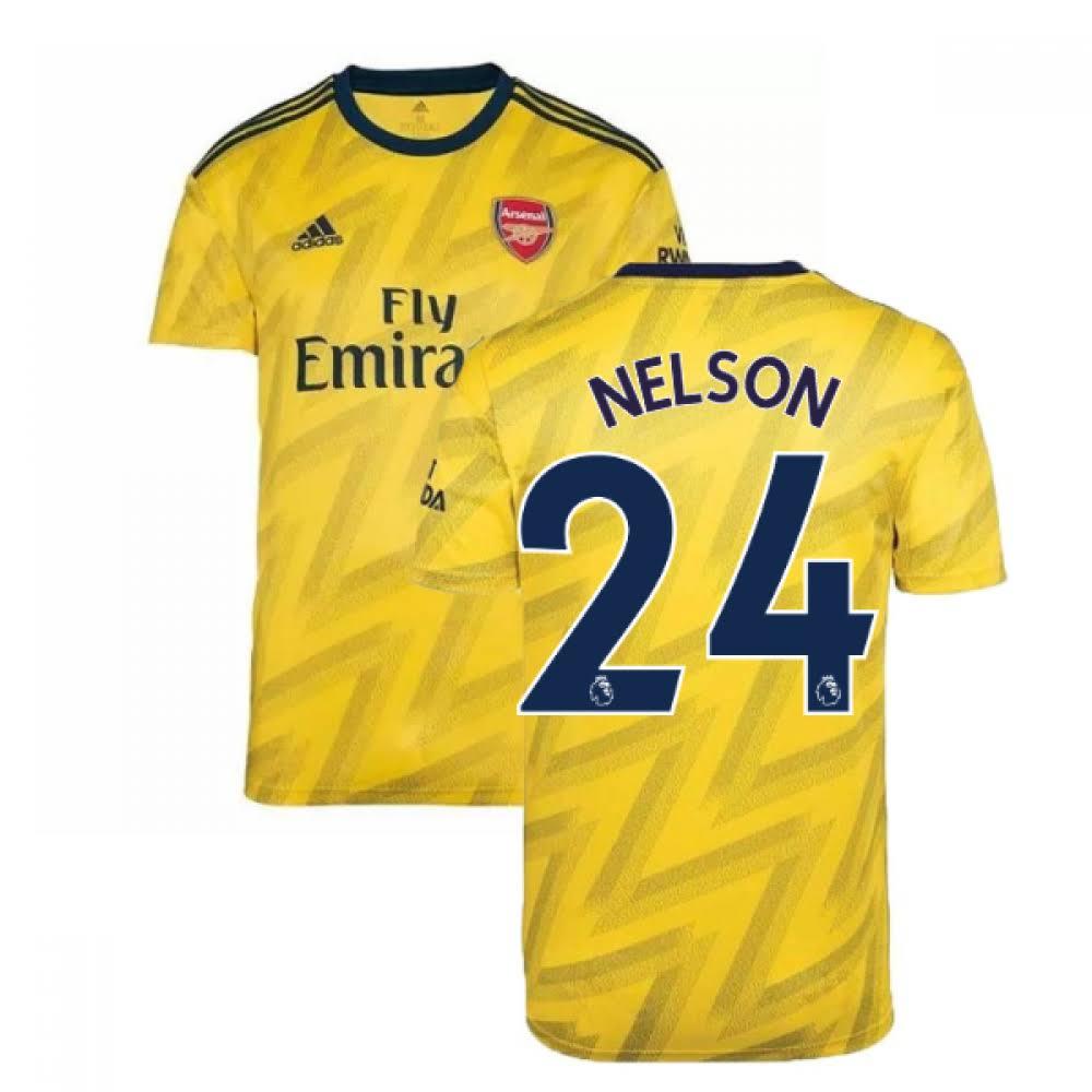 2019-2020 Arsenal Adidas Away Football Shirt (Kids) (Nelson 24)