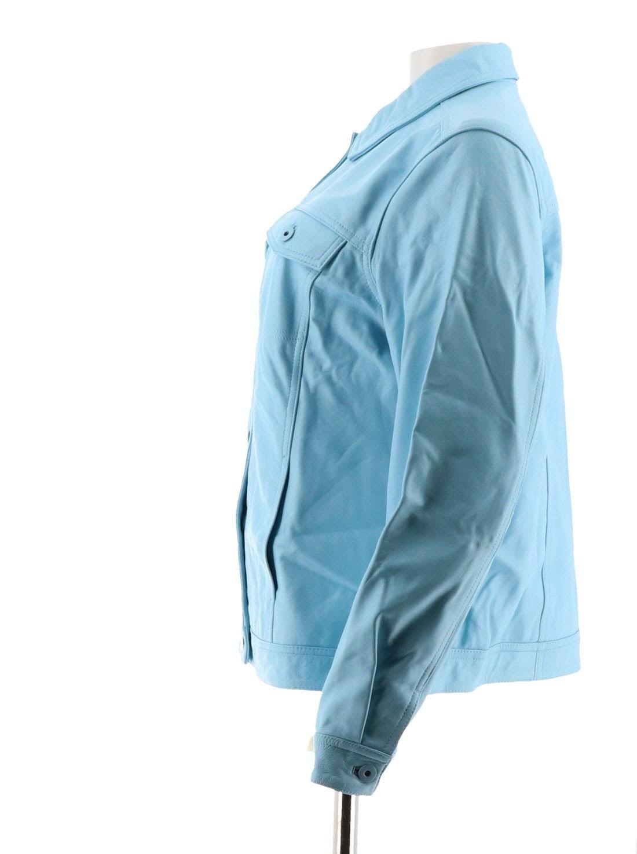 Denim amp; Lammlederjacke Neu 2x Kaltblau Co Blue Jeans A272640 Cool rSqBrwd