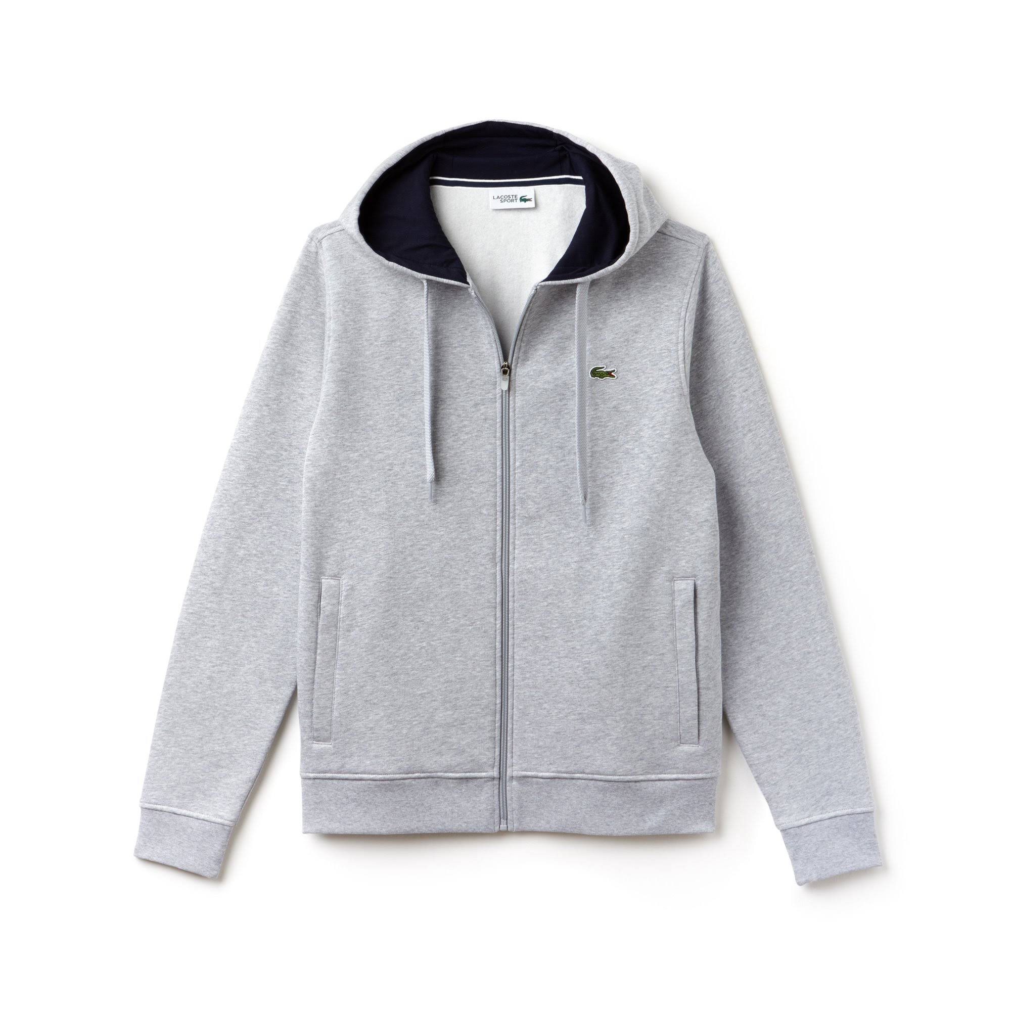 Zip Full Chine Hoodie Silver Navy Sport Tennis Fleece Regular Lacoste I6x1UFww