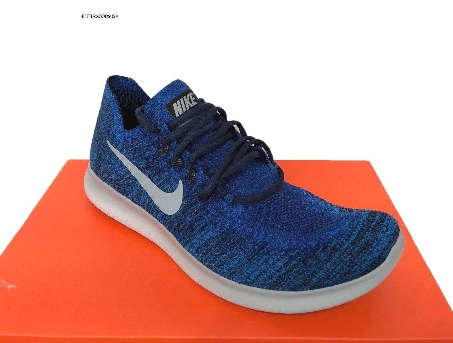 Men 2017 Zapatillas Free Tamaño Nike Flyknit 10 Grey Rn De 5 880843 Royal Running 405 Blue F101Uqt