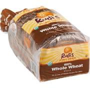 Rudi's Organic Bakery Bread, Whole Wheat - 22 oz loaf