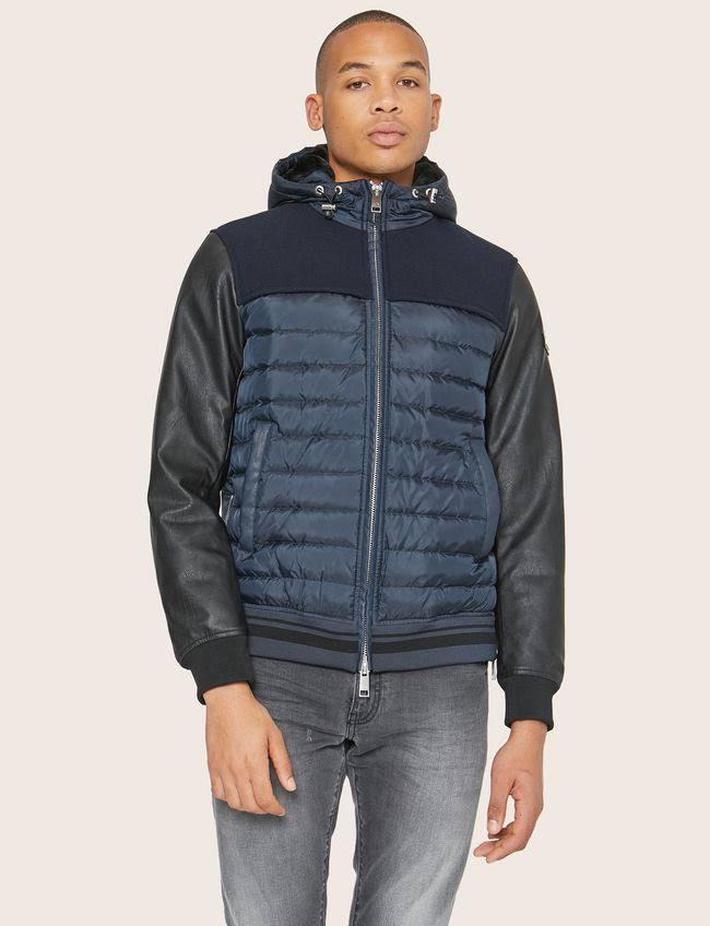 Jacke Polyester Größe Exchange Armani Herren M Marineblau Blouson IBSFqw4x