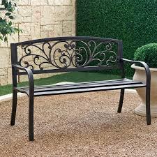 Metal Scrolling Garden Bench