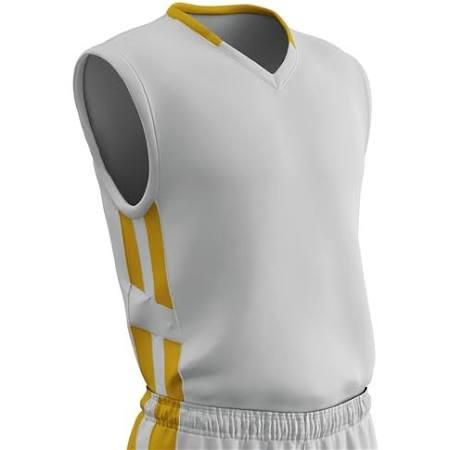 Muscle Para Dorado Champro Dri Gear De Blanco Hombre Tamaño Baloncesto Camiseta Mediano q6wS4tnWYn