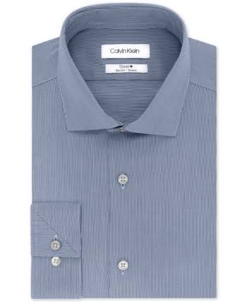 Slim Calvin Camisa Planchado Klein Sin Elástica Corte Vestir Hombre Para De txxqw1Bz