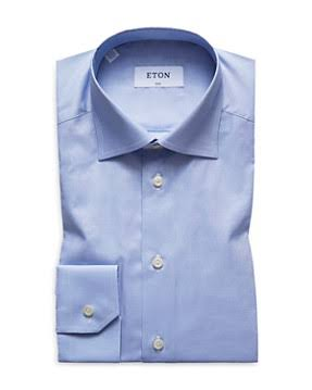 Camisa Azul Básica Vestir De Ajustada Eton rnfArqw