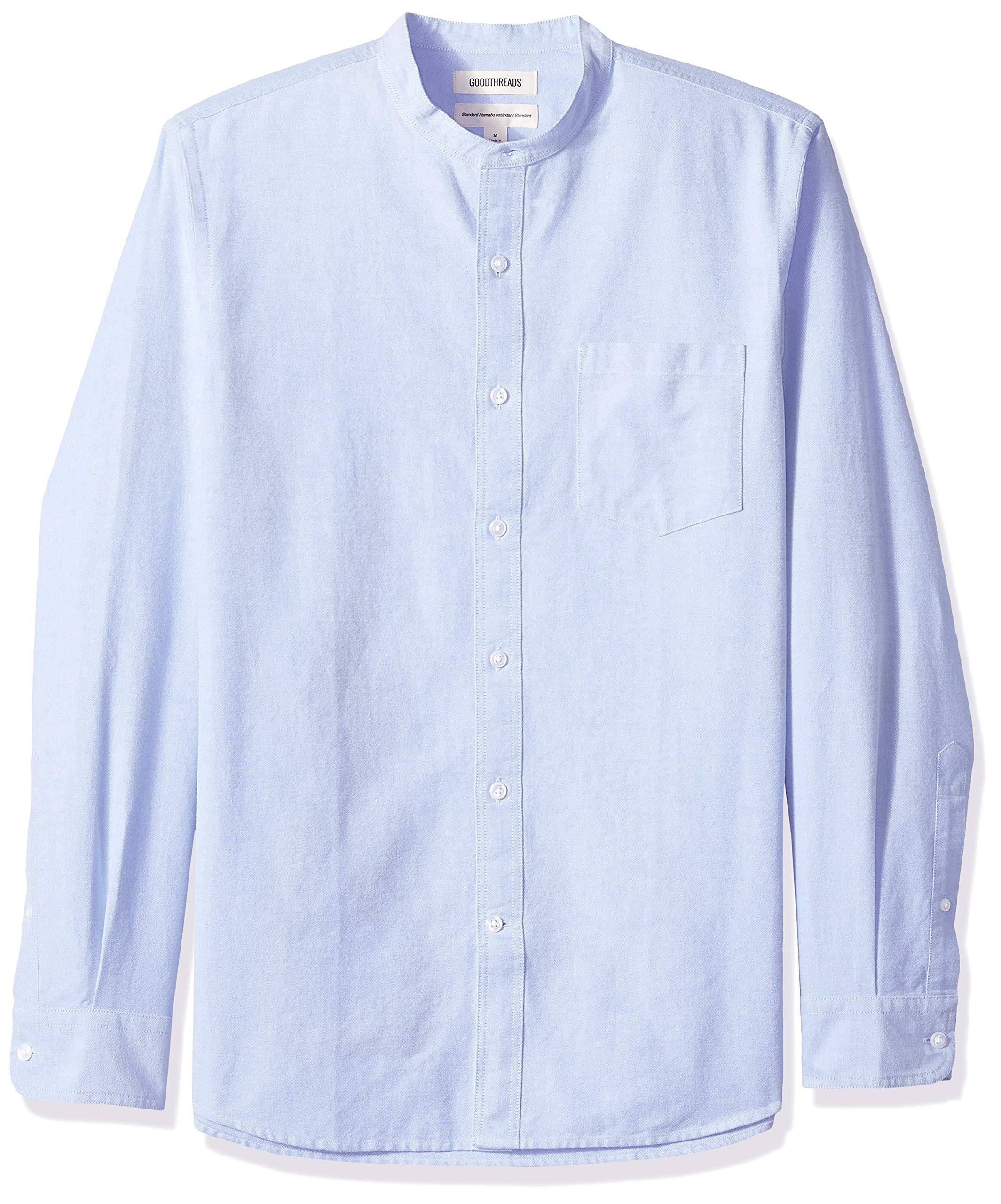Alto Y Larga Hombre Estándar Oxford Cuello Para Goodthreads Camisa De Manga qx4Ign