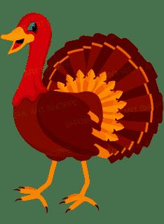 Turkey Clip Art   Thanksgiving Clipart Turkey Printable Art   Autumn Clipart Commercial Use Digital Printables   Instant Download Bird Art