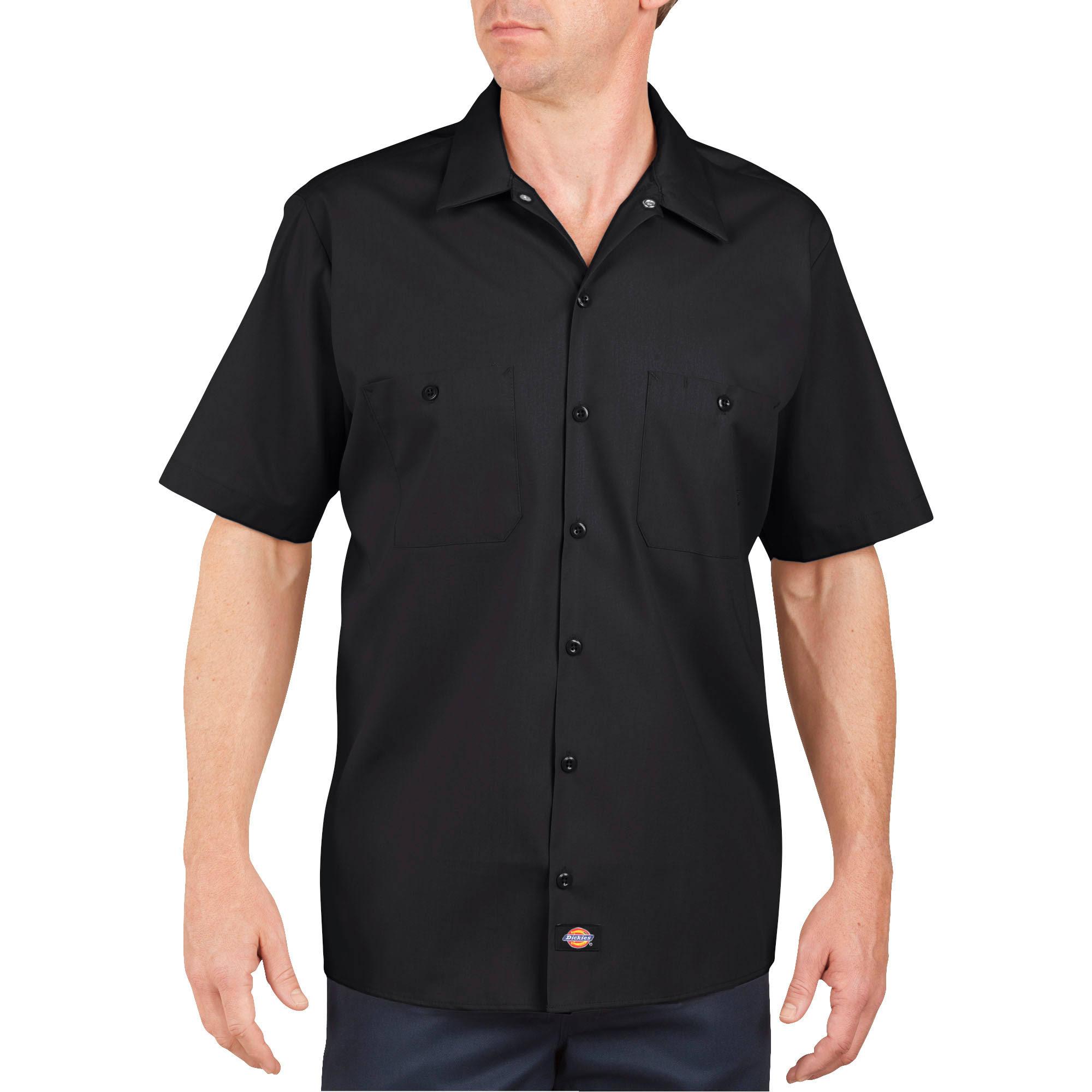 2x Slv Popeline Dickies hemd Ls535bk Schwarz Kurzes 2xl Tnqx47B