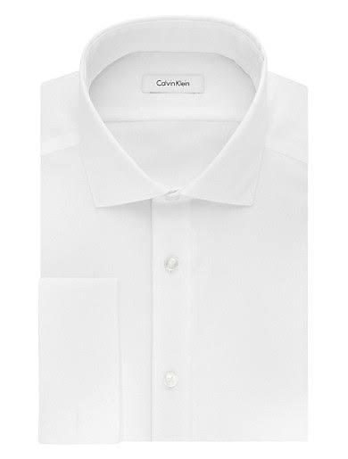 Blanco Rosa Vestir De 33 32 Para 5 Fit 15 Mujer Tamaño Camisa Slim 6OwqxP