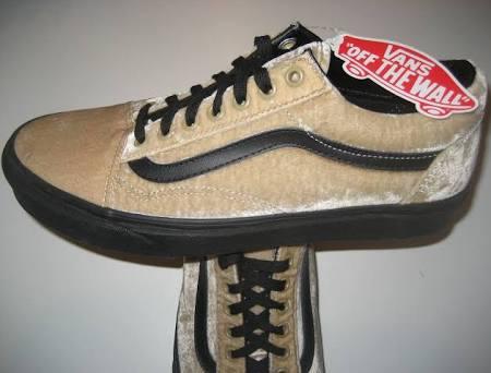 Skate Vans Skool Tamaño Tan Old 9 Negro Nwt Velvet Vn0a38g1nqa Beige Shoes Hombre qq0OwZf