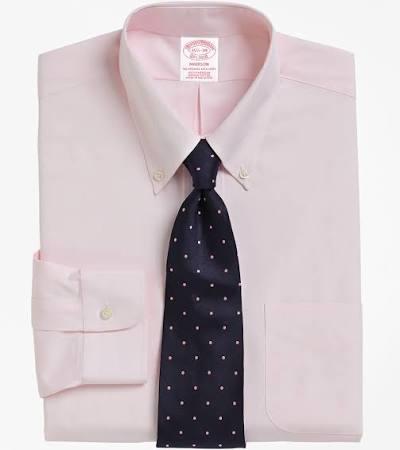 Hombres Abotonado Color Rosa Camisa De Vestir Con Brooks Brothers Para Corte Cuello Clásico xq0PfvZwR