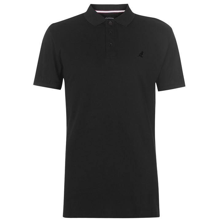 Hombre Para Polo Negro Tamaño Kangol 3xl Brit Fit Camisa qCgFOS