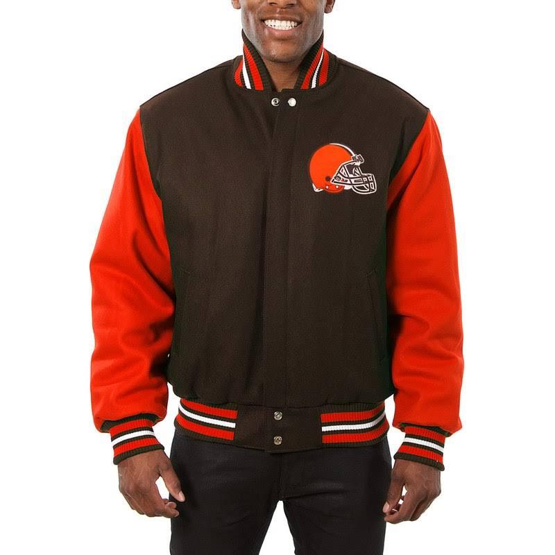 Chaqueta Bicolor Design Lana Jh Marrón 5xl Naranja Cleveland Browns De Doméstica U8C8Aq