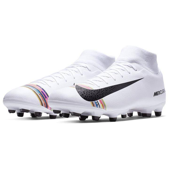 Nike Mercurial Superfly Academy DF FG Football Boots - White/Platinum