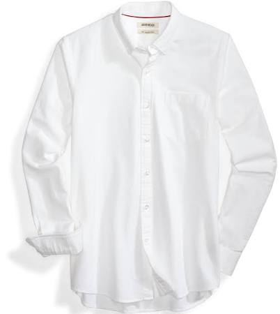 Larga Goodthreads Camisa Para Y Blanca De Corte Oxford Hombre Slim Manga Bz1zrtq