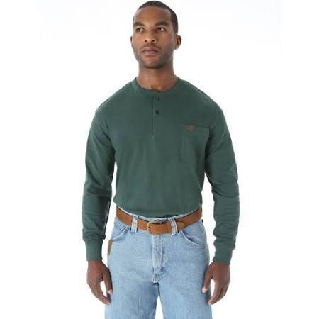 Green Riggs Larga De Workwear xl Wrangler Para Camiseta Hombre Manga Forest xTqwv1OOS