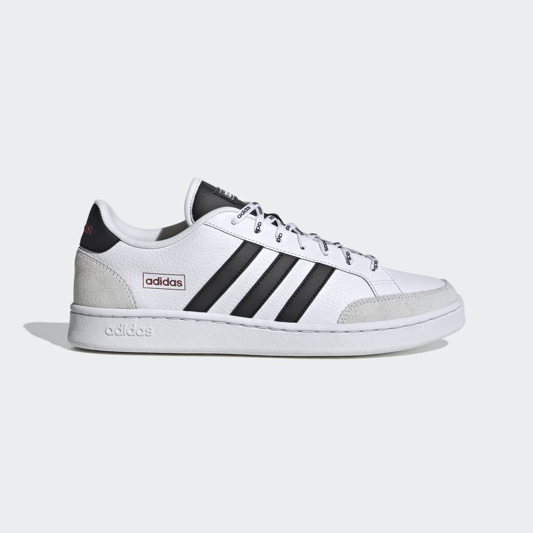 Adidas Grand Court SE Trainers White Black Red 44