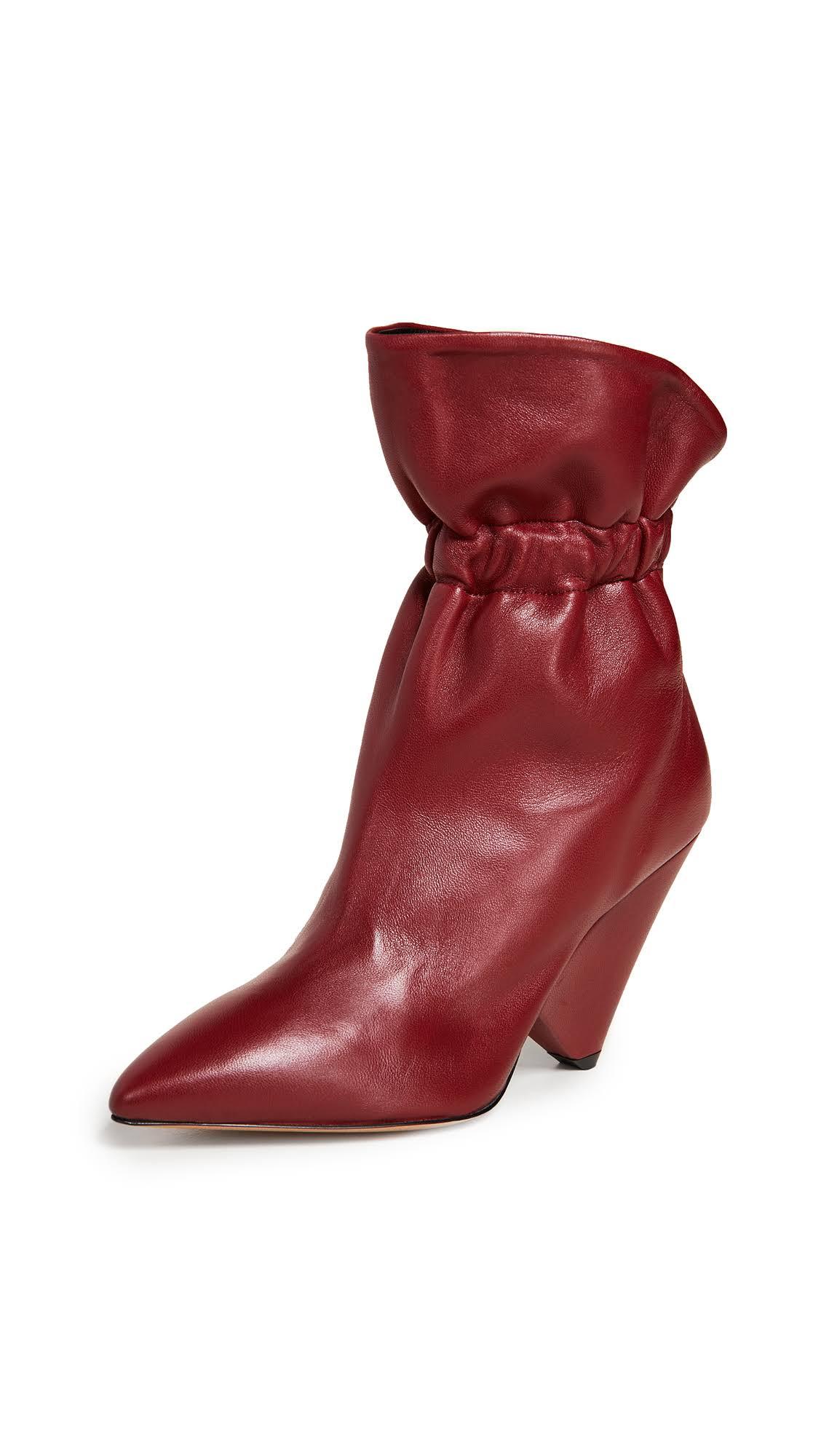 Red pelle MarantStivaletti in Lileas Womens Isabel Burgundy drCtQhs