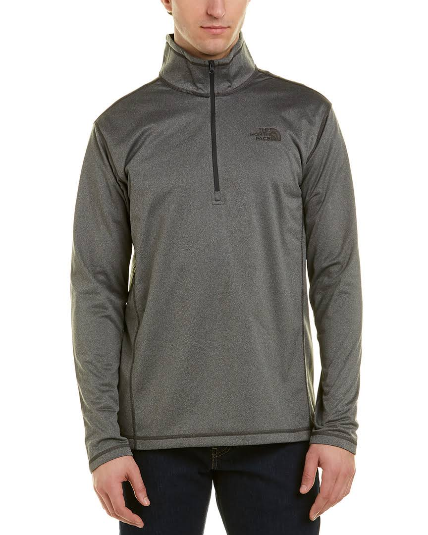 Glacier 1 4 Gris The L Tnf North Heather Medio Hombre Tech Face Zip SwqF6tKaU