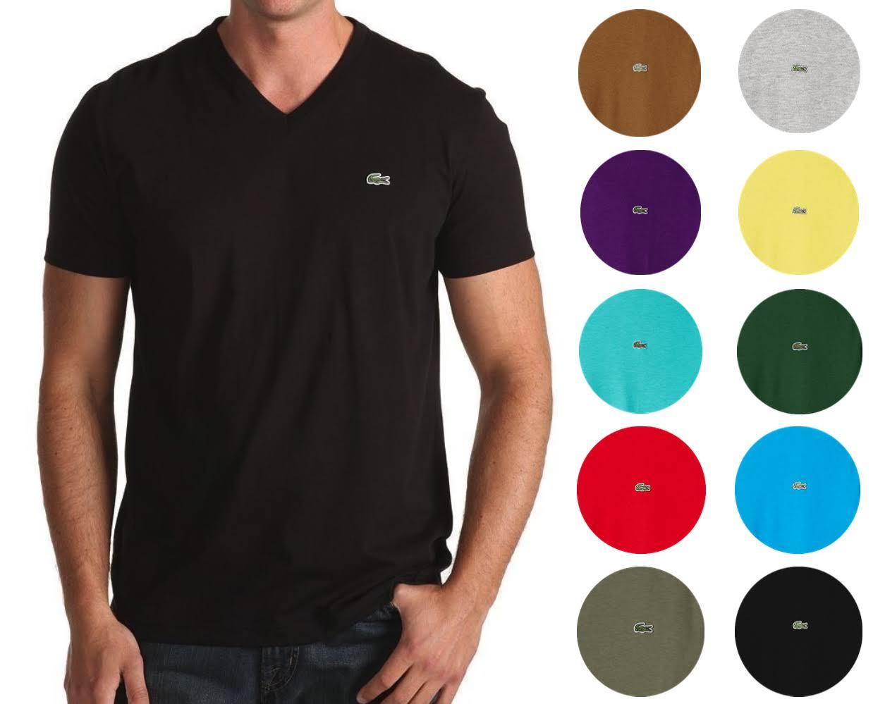 V jersey Th6710 Aus ausschnitt Lacoste t Mit shirt Regular Herren Kurzarm Pima 4wnqwUOfX