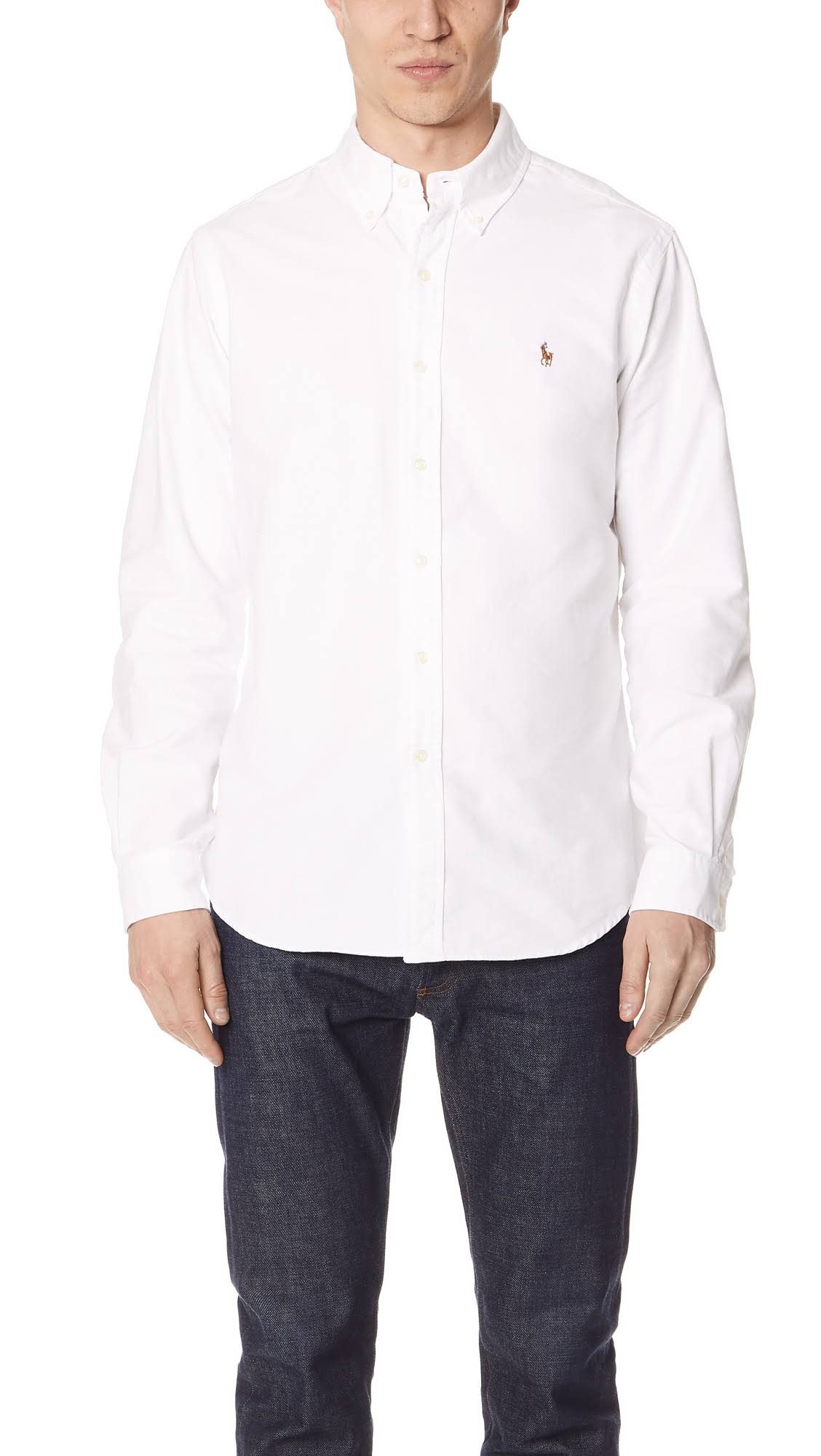 Blanca Polo Camisa Oxford Ralph Lauren vg0qU