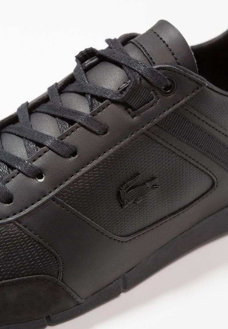 Size Men's 6 black Trainers Black And Imitation Black 5 Lacoste Menerva Leather qtwfSS