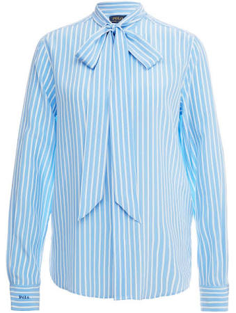 Multicolor Azul 32 Lauren Ralph Mujer Buttondown Tamaño Blusa Polo Azul zvSOqnIxw