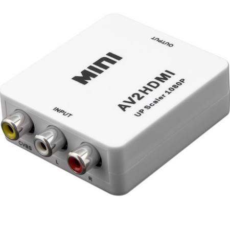 Dispositivo AV2HDMI, para convertir señal RCA en señal HDMI