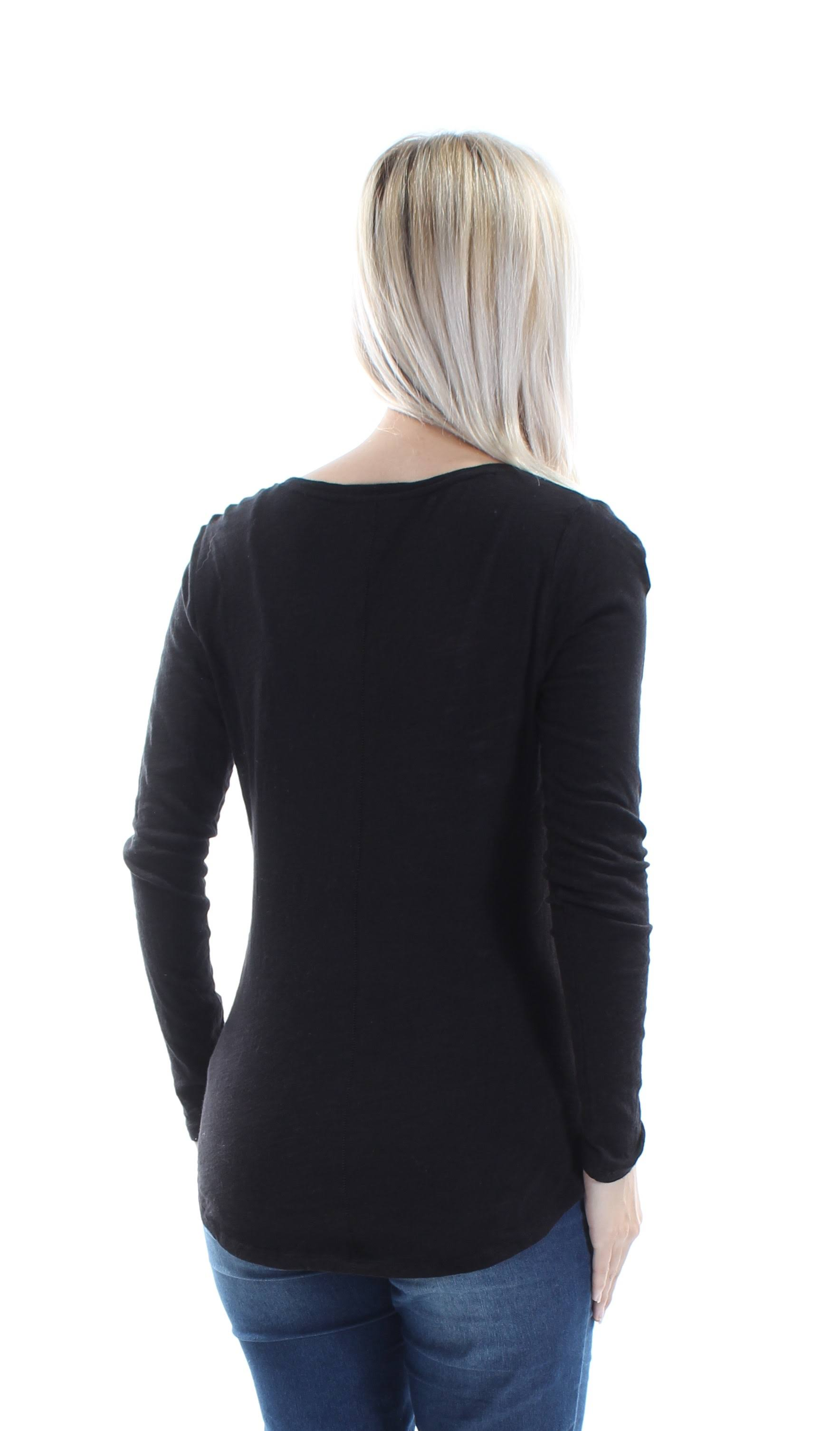 Jewel Jules 1406 24 Larga Maison Top Casual Neck Manga Black B Xs Womens dtwXdxS