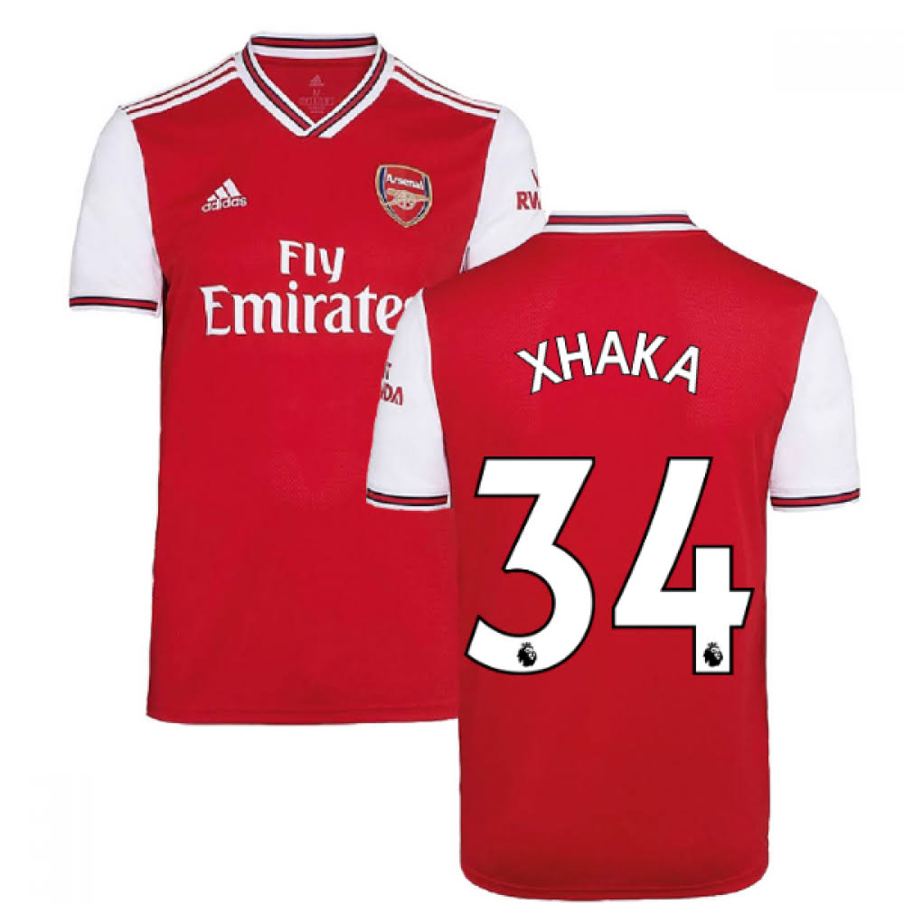 2019-2020 Arsenal Adidas Home Football Shirt (Kids) (Xhaka 34)