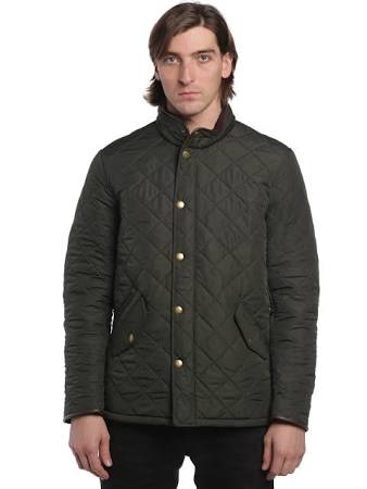 Sage olive Barbour Mqu0281gn72 Powell Steppmantel nwwAg