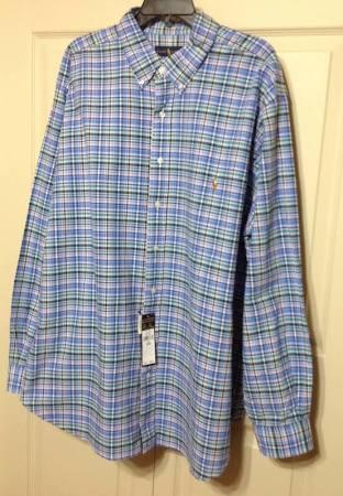 De Lauren 2xb 98 Camisa Polo Hombres Comprueba Y Tall amp; Manga Larga Botones Múltiples Ralph Big Con R7f7q01