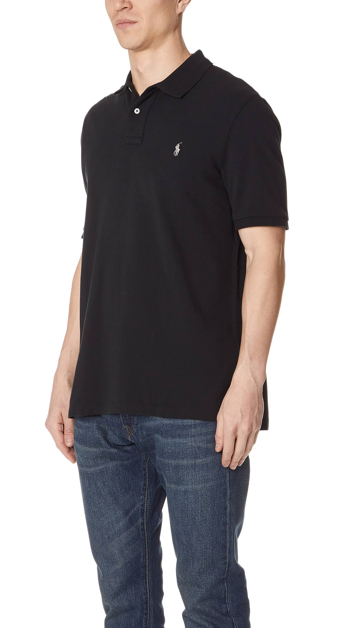 Negro Polo Ralph Camisa Classic Fit L Lauren 668wqvX