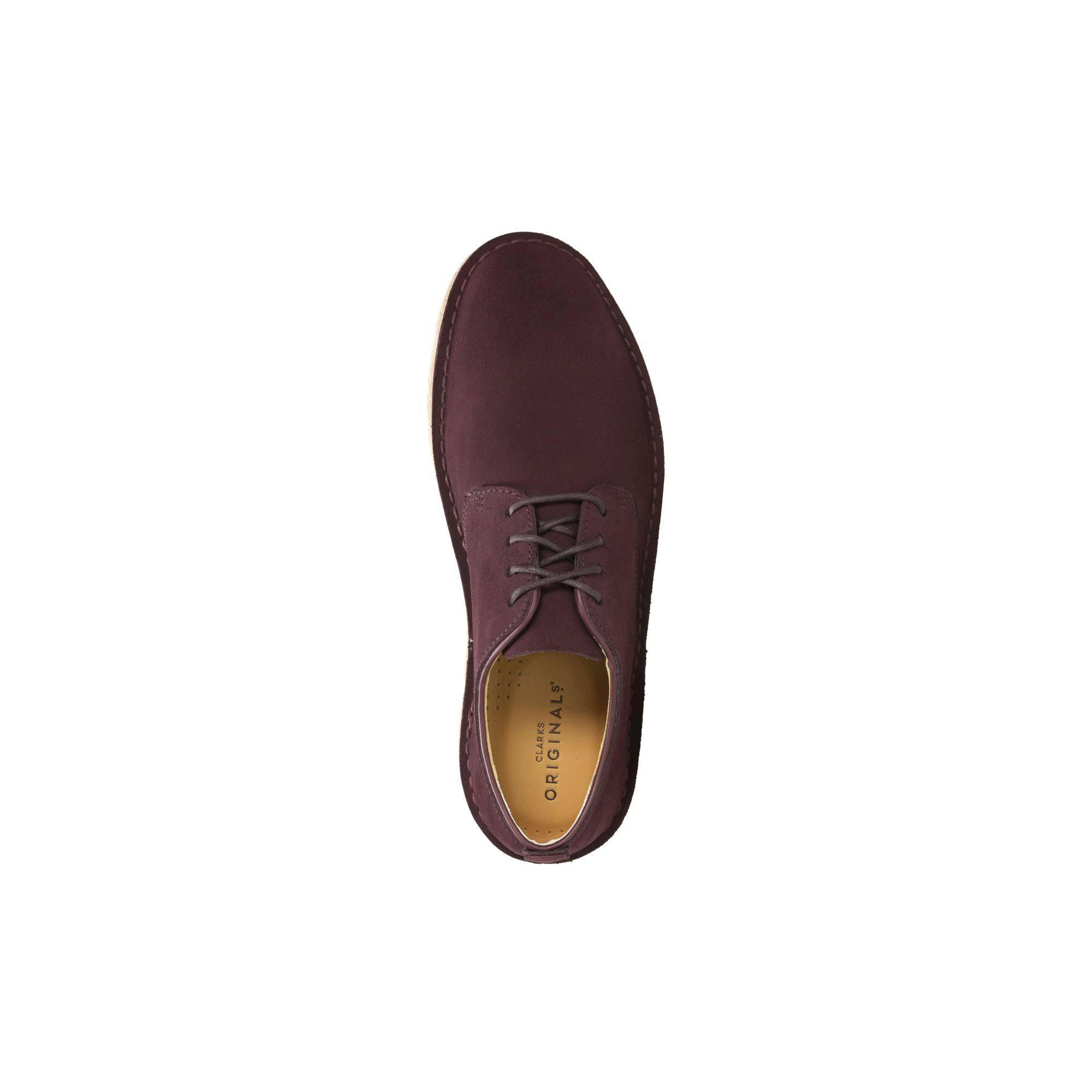 261285117 46 London Weinrot Schuhe Größe Desert Clarks qxZzv88