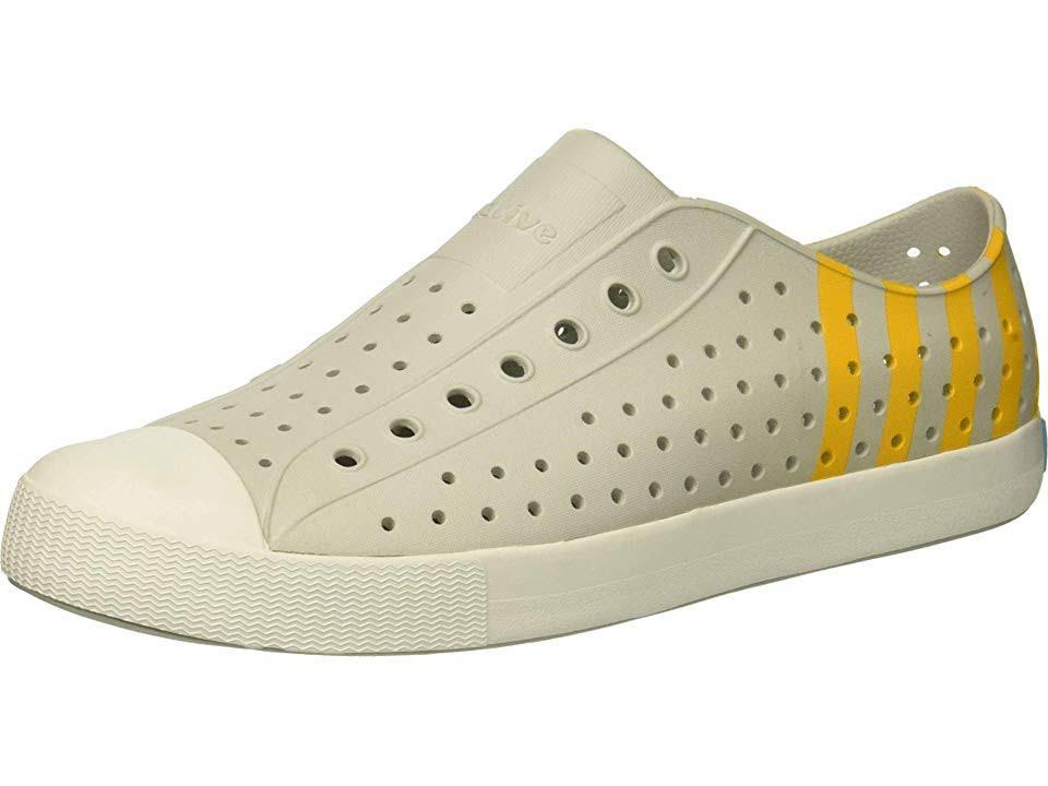 Blanco Hombres Mujer Gorrita Gris Zapatos Nativos 5 Jefferson Tejida Para Medio 7 Mist Cáscara FBn8I6R