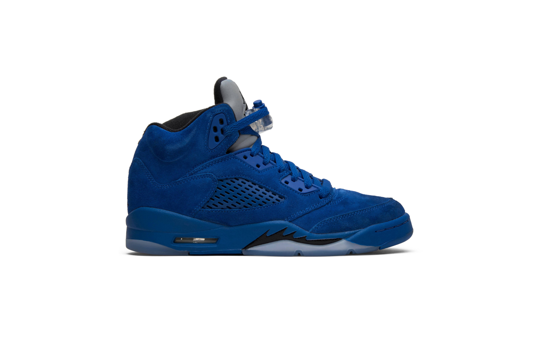 0 Jordan Air Zapatillas Retro Jóvenes 5 7 Gs Para Azul Talla 'suede' qtwgETP