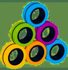 21 stks Antistress Magnetische Ringen in vrije stijl Magnetische armbandring Rits speelgoed uit Magnetische spellen Ring Rekwisieten Gereedschap Deco