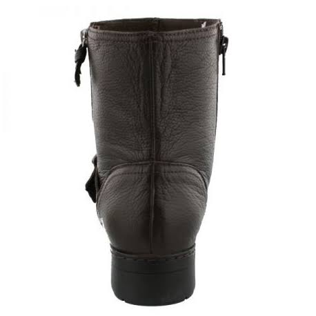 Invernali Da Stivali 6 Brown Side Zipper Women Clarks Merrian Lynn Motociclista 1Tlc3KFJ