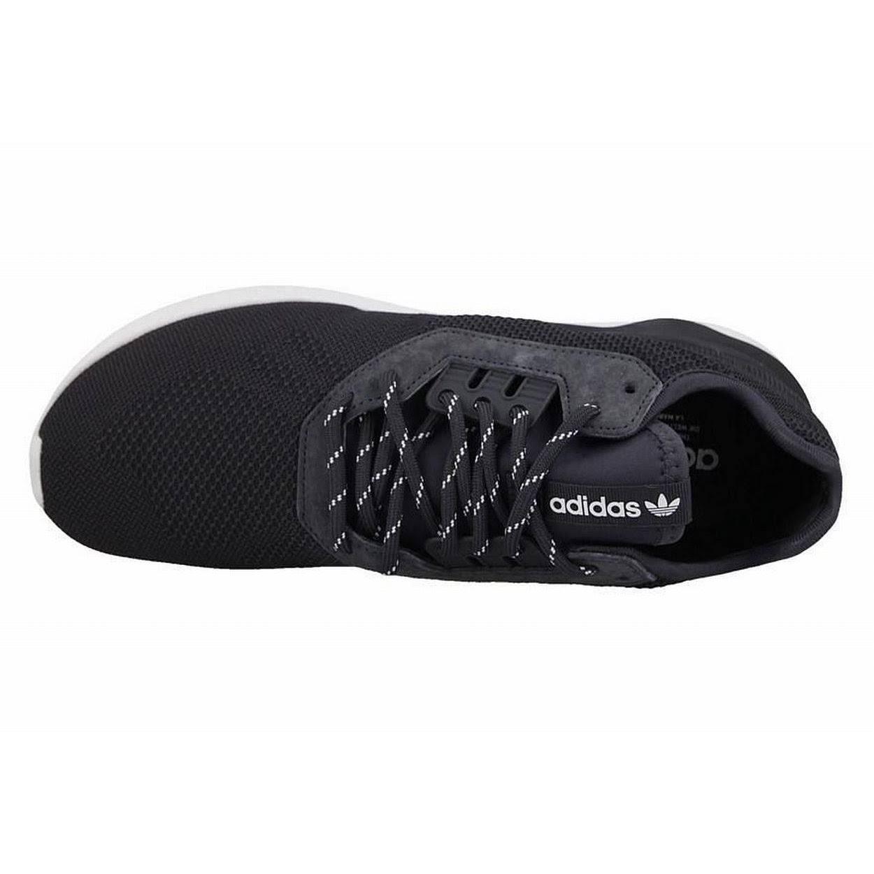 (7.5 UK) adidas Originals Men's Tubular Runner Weave Trainers Carbon