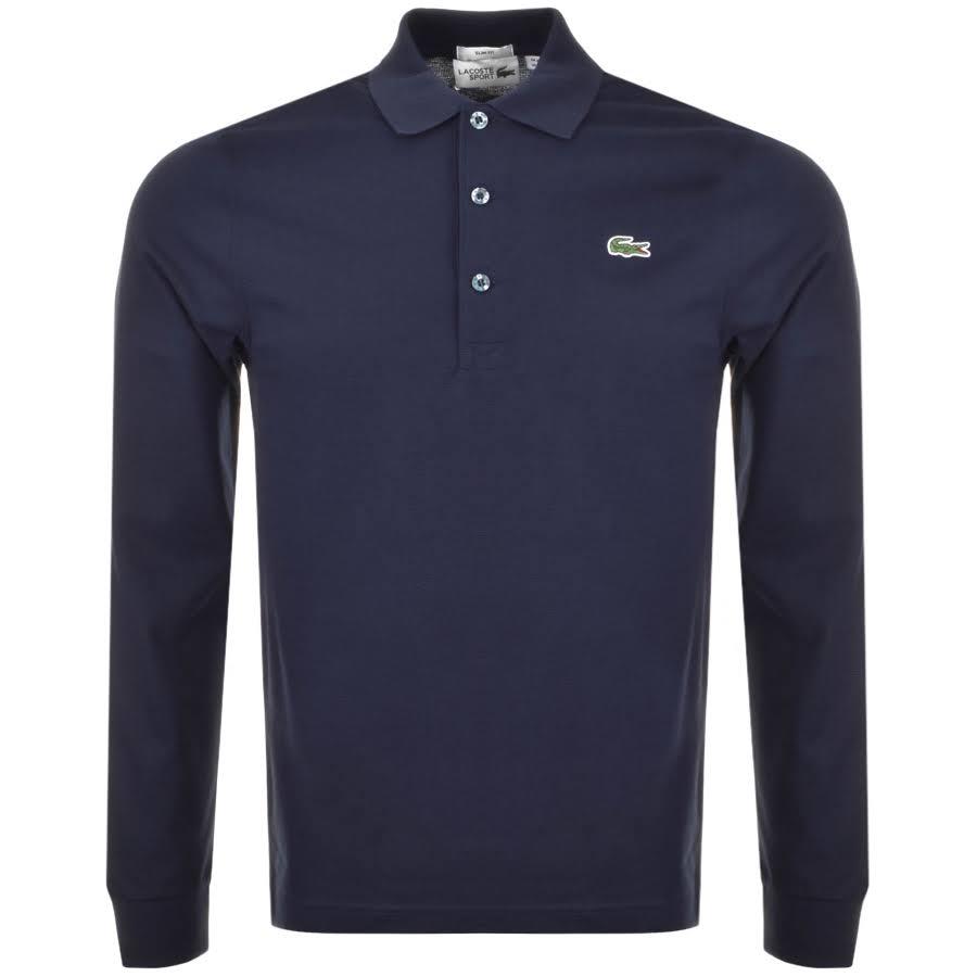 Manga Sport Marino Camiseta Polo Larga Lacoste Azul wnUHqgOEwx